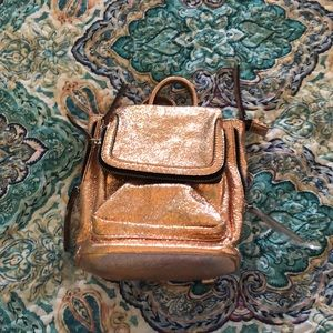 Charming Charlie Rose Gold backpack